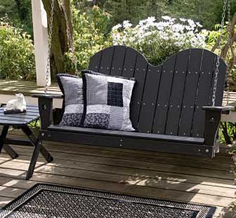 Adirondack Porch Swing | Wood Porch Swing
