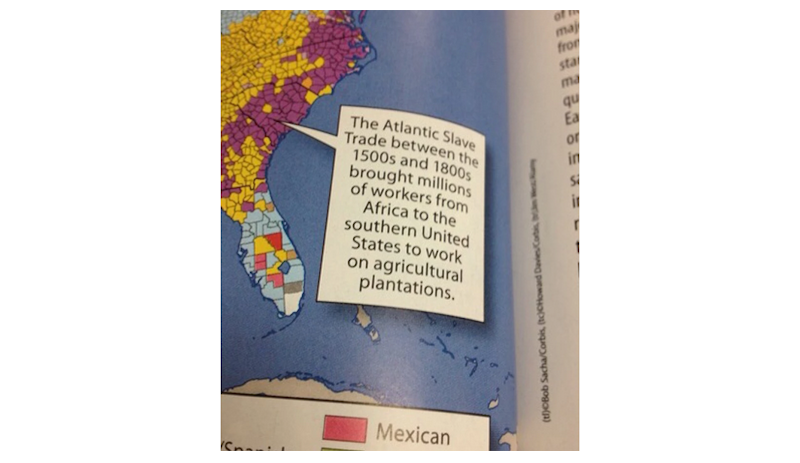 Texas Mom Forces Textbook Publisher to Correct Caption Implying Slaves Were Immigrant Workers