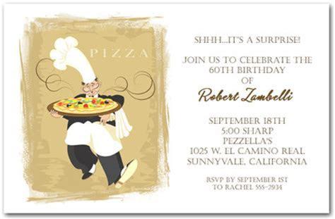 Pizza Invitation, Italian Restaurant Invitation