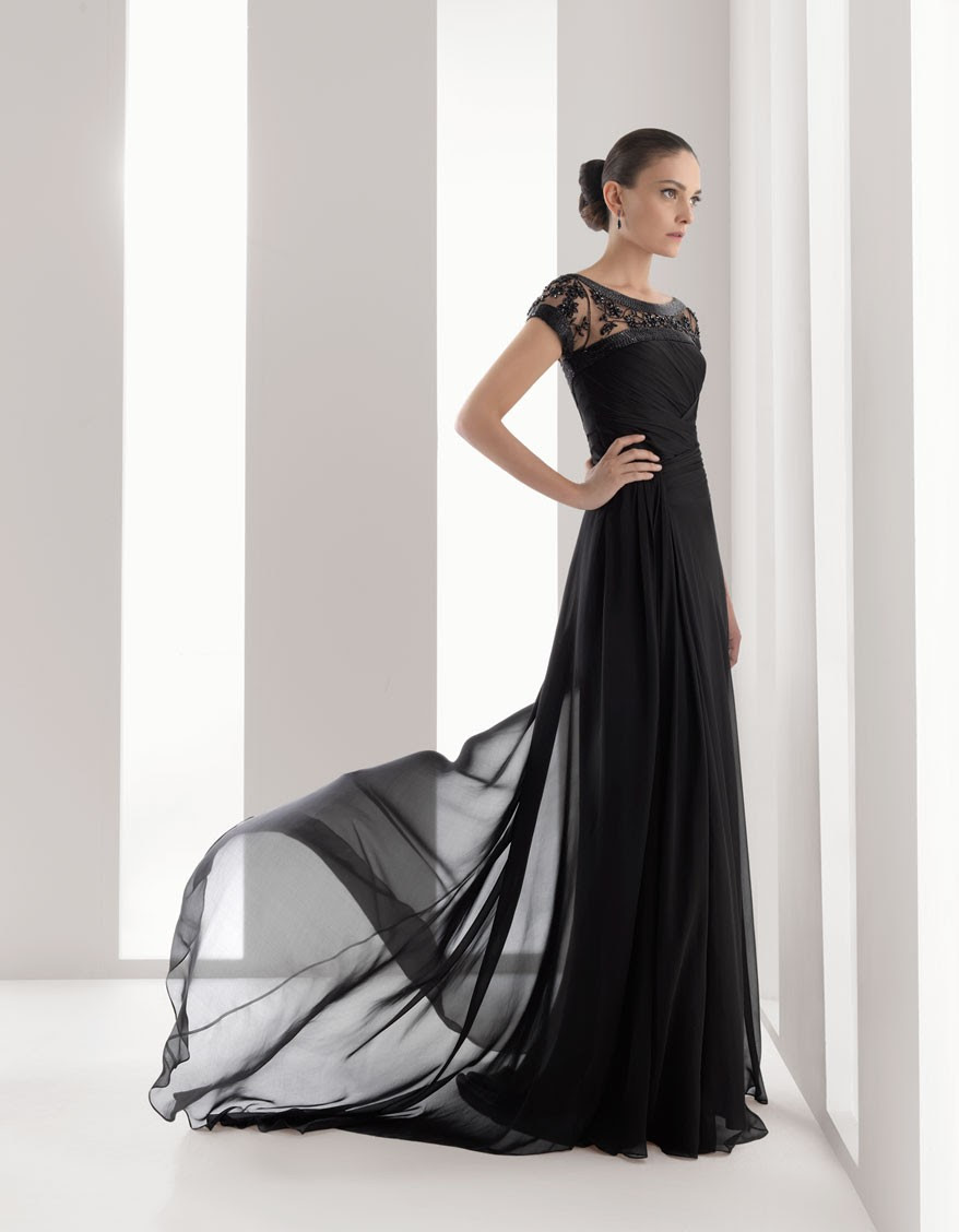 Nice black evening dress