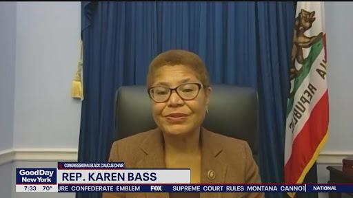 Avatar of Rep. Karen Bass on possible VP run