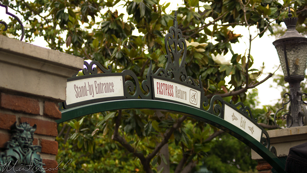 Disneyland Resort, Disneyland60, Disneyland, Haunted, Mansion, New, Marquee, Stand, By, Fast, Pass, FastPass, Exit