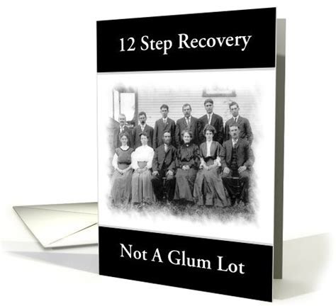12 Step Recovery Humor Group Photo Custom card (950381)