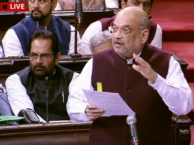 Amit Shah during discussion on SPG bill. ANI