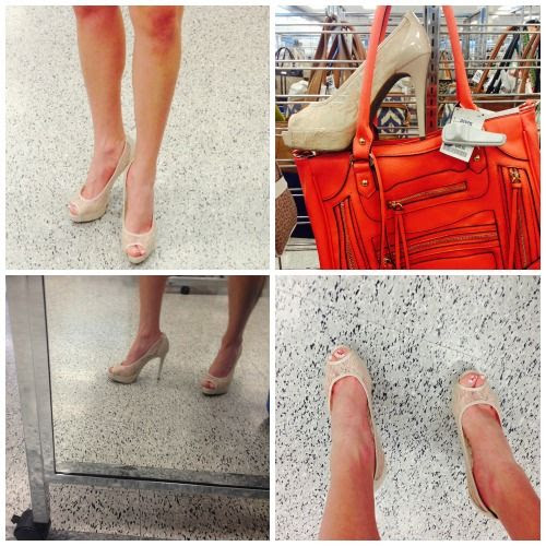 Sheer Nude Peep Toe Shoes at Ross Dress for Less
