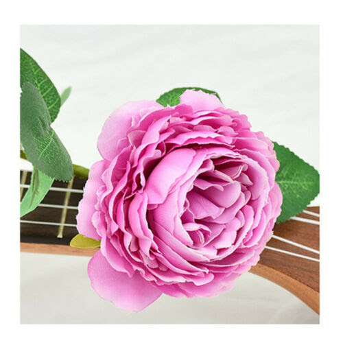 Home Garden Charm Diy Wedding Bridal Artificial Flower Fake Peony Party Home Decor Bouquet Rudisbakery Com