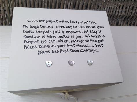Shabby Personalised Chic Special Best Friend Keepsake Gift