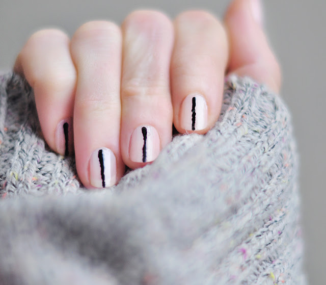 Pink And Black Nails Art