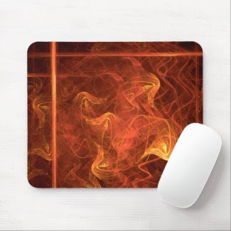 Flames Over Black mousepad