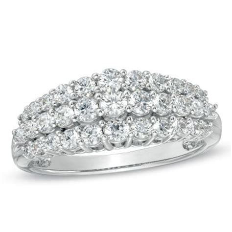 1.00 CT. T.W. Diamond Triple Row Anniversary Ring in 10K