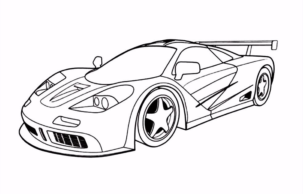 mewarnai mantap djiwa afbeelding kleurplaat raceauto