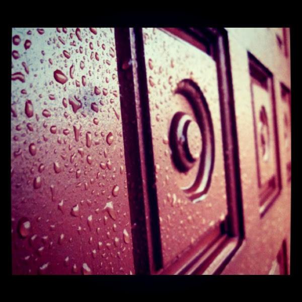 rainy door