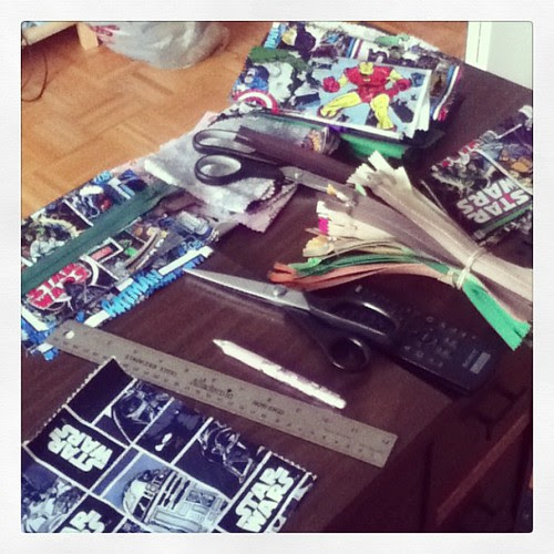 My messy afternoon of crafting.
