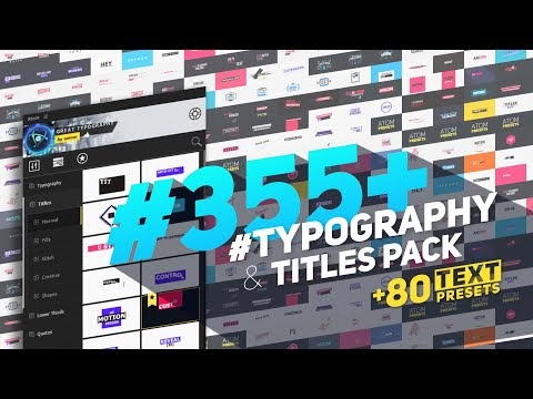 After Effects - Big Pack of Typography | Atom F.u.l.l