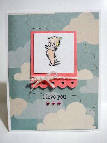 i love you Kewpie card