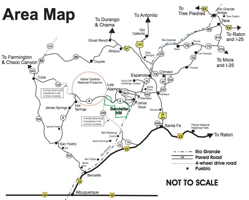 Bandelier National Monument Geography Climate Map Desertusa
