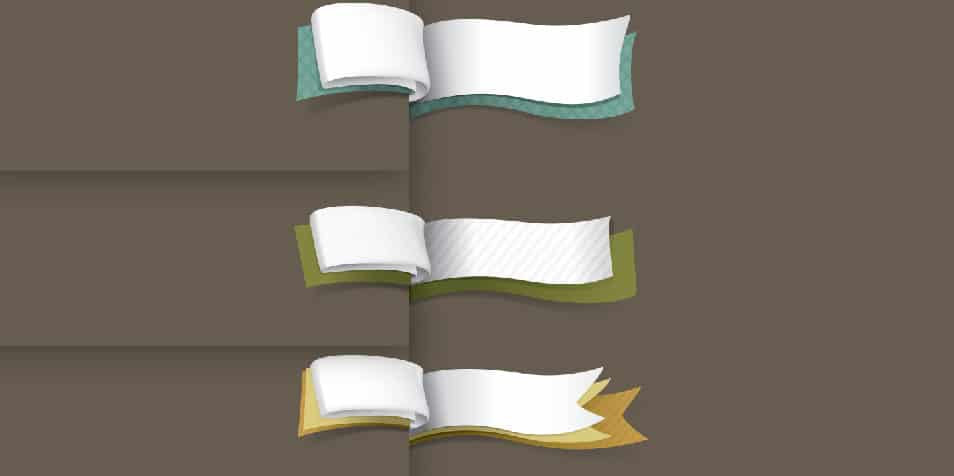 Ribbons Vector psd
