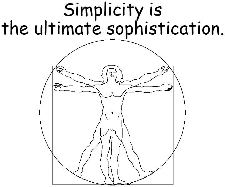 simplicity 簡單是最高級的複雜 達文西 Leonardo da Vinci
