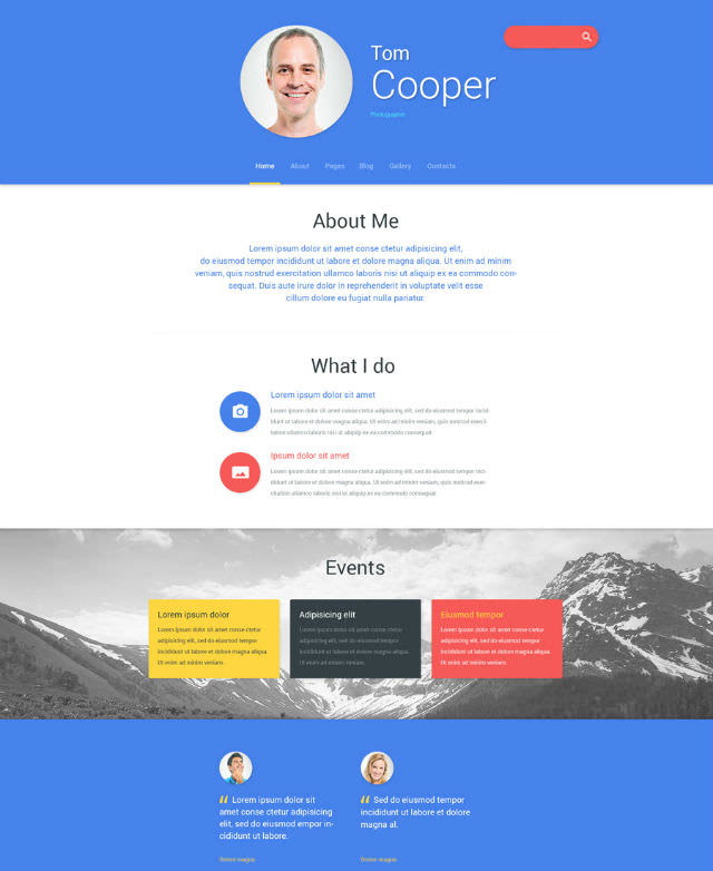 Get Hired: 30+ CV and Personal Portfolio Templates - noupe