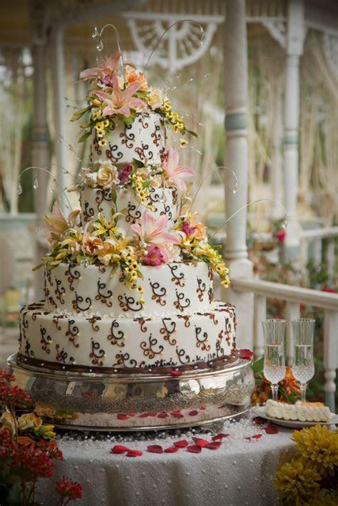 Outdoor Wedding Cake under the Gazebo » Cynthias Cakes, LLC