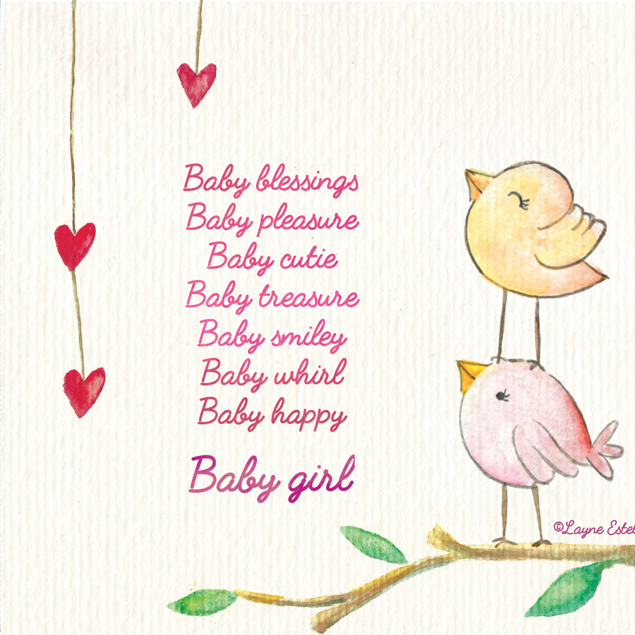 Baby Blessing Girl Seasonal Words With Layne Estell
