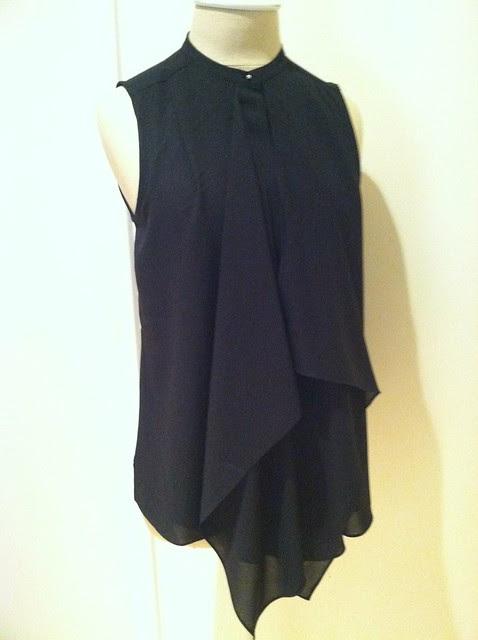 H&M ruffled blouse (black)