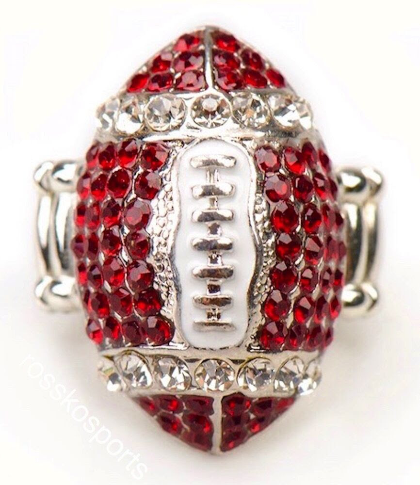 Arizona Cardinals Red Rhinestone Football Ring Women Girls NFL Fashion Jewelry  eBay