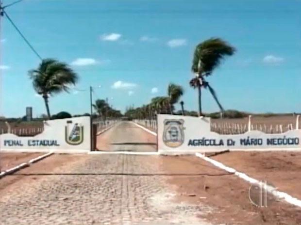 Penitenciária Agrícola Mário Negócio, em Mossoró (Foto: Reprodução/Inter TV Cabugi)