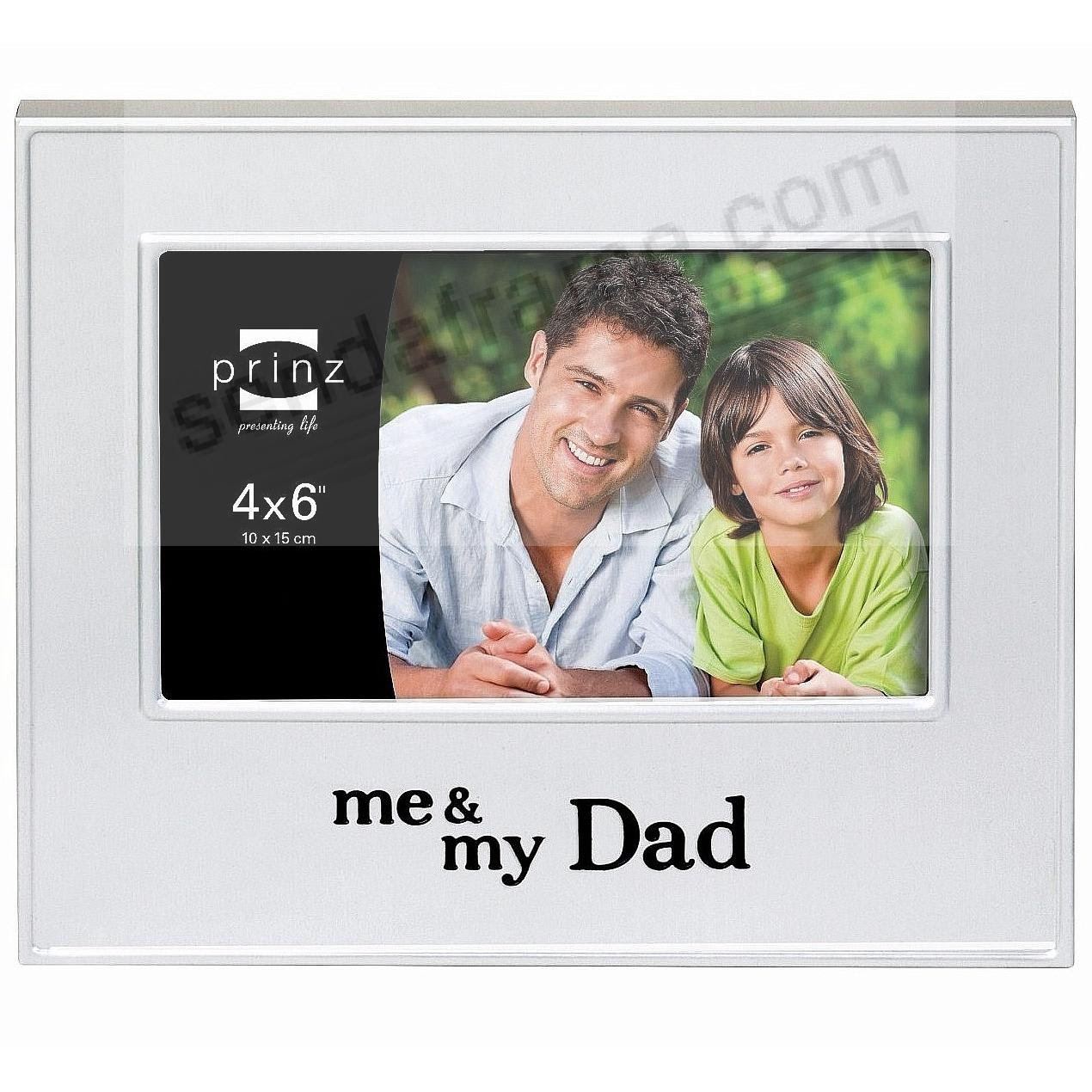 Me My Dad Brushed Silver 6x4 Frame By Prinz Picture Frames