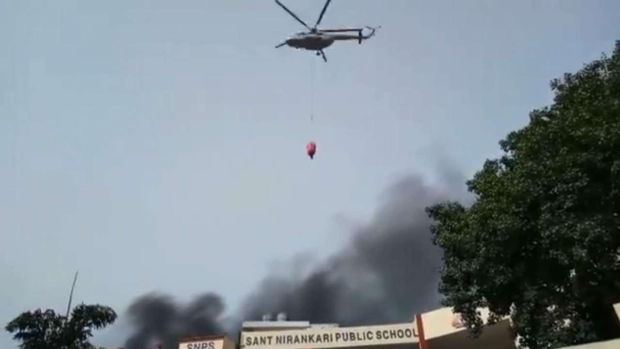 IAF chopper in Malviya Nagar