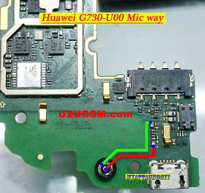Huawei G730-U00 Mic Problem Solution Microphone Not Working  Jumpers Ways