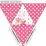 Caixa Pirâmide Páscoa para Meninas: