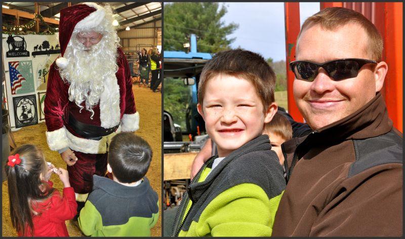 santa and wagon rides