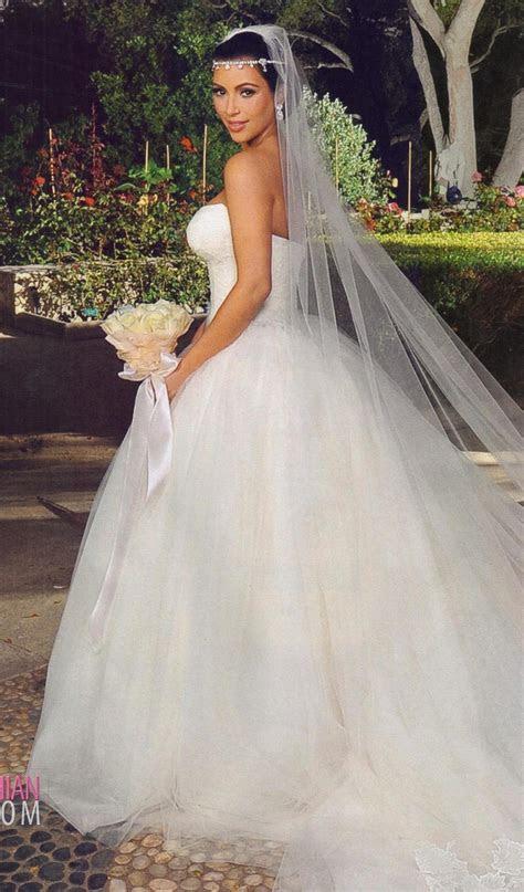 The most beautiful of Kim's three Vera Wang wedding