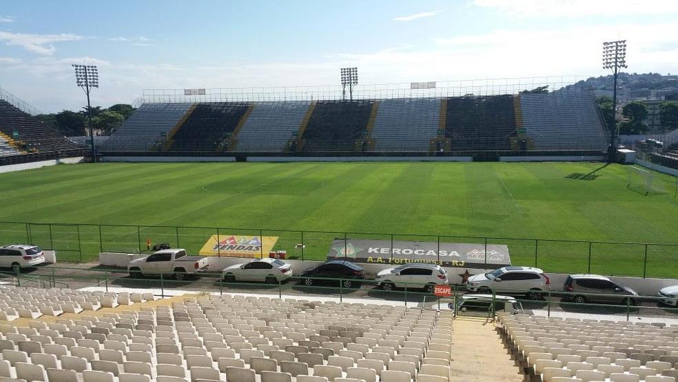 Arena era utilizada pelo Botafogo em 2016 (Foto: Davi Barros)