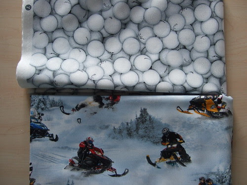 Golf balls and snowmobiles