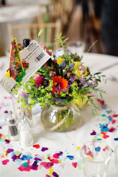 Best 25  Rainbow Wedding Centerpieces ideas on Pinterest