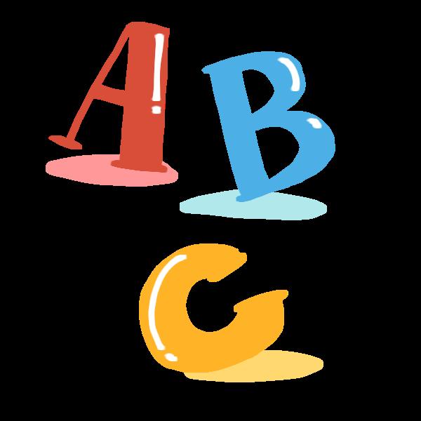 アルファベットのabcのイラスト かわいいフリー素材が無料のイラストレイン