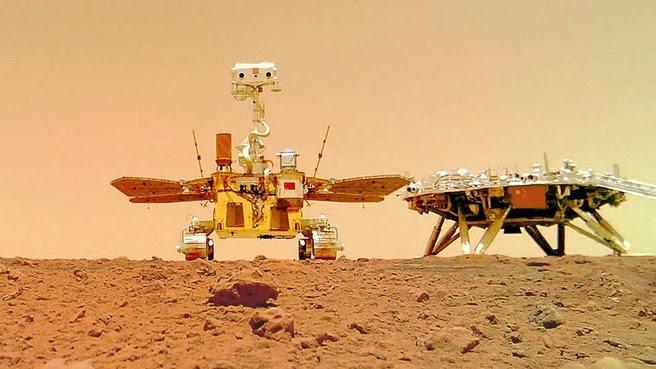 Chinese Marsrover deelt nieuwe foto's vanaf rode planeet