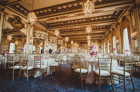 Wedding Lunch Reception in Gold Room at Fairmont San