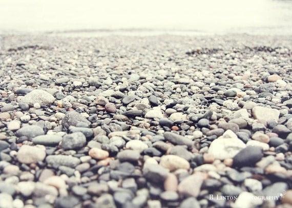 Beach Photography - Ocean Photograph - 5x7 Fine Art Photography Print - Gray White Home Decor