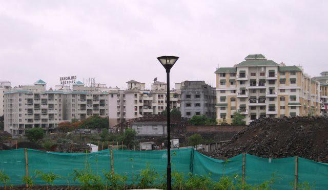 Rakshak Nagar & Gulmohar from Kolte-Patil Developers' Tuscan Estate, 3 BHK Flats & 4 BHK Paint-Houses, on main Kharadi - Hadapsar Bypass, behind Radisson Hotel, at Kharadi Pune