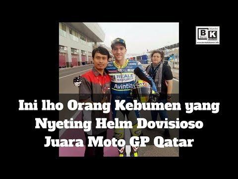 Inilah Orang Kebumen yang Nyeting Helem Pembalap Moto GP