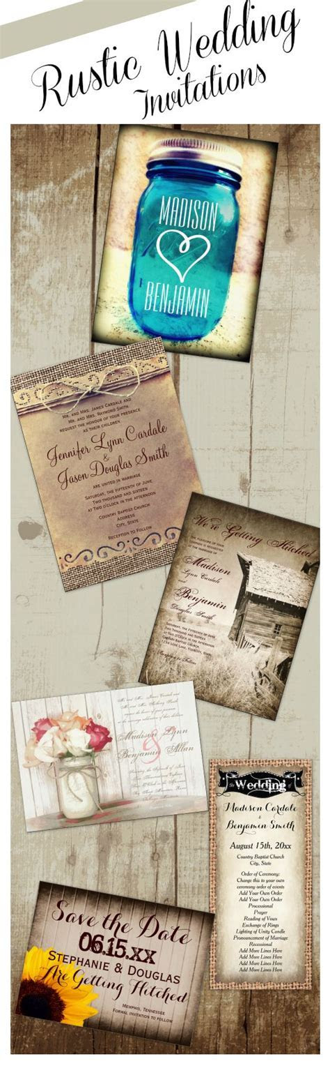 Rustic Wedding Invitations for a country style wedding