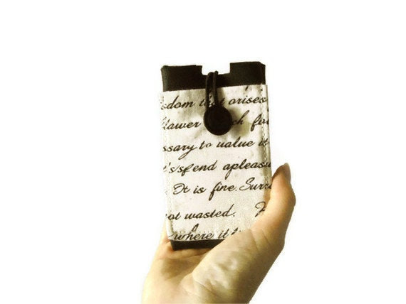Love letter, Iphone case, Ipod cover, cell phone sleeve with pocket - Lunica