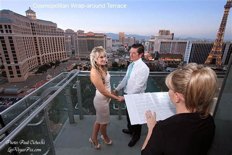 wedding ceremony on a balcony @ the Cosmopolitan, I helped