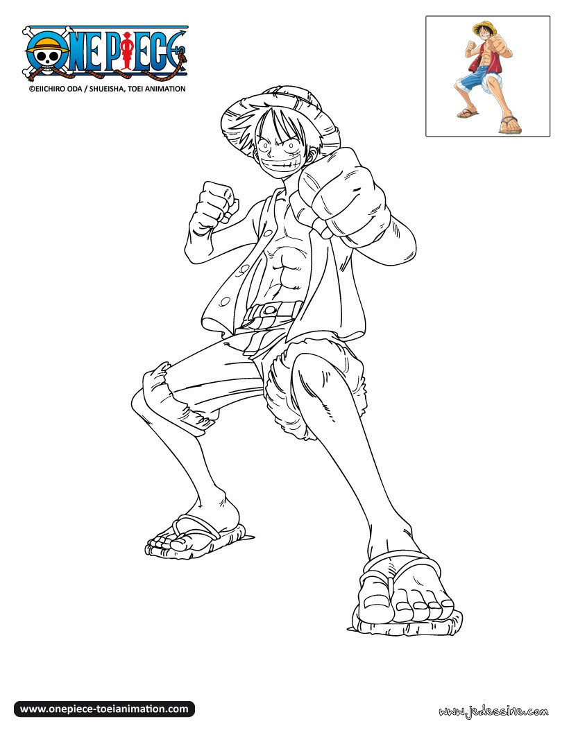 Coloriage one piece luffy colorier dab dessin - One piece a imprimer ...