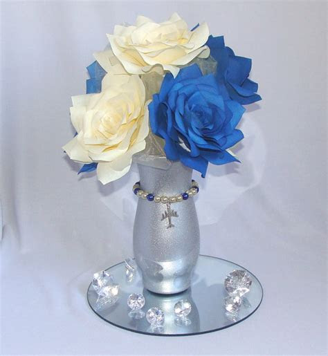 Baby Blue Wedding Table Decorations Photograph     Bridal