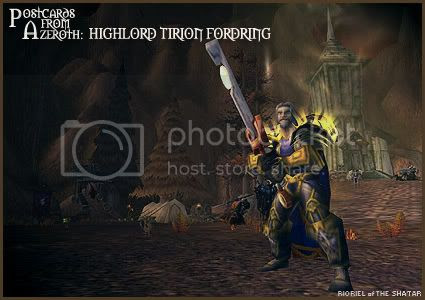 Postcards of Azeroth: Highlord Tirion Fordring, by Rioriel Ail'thera