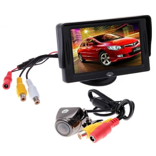 nouveau camera de recul etanche arriere vue voiture camera 170 degres couleur tft lcd rearview. Black Bedroom Furniture Sets. Home Design Ideas